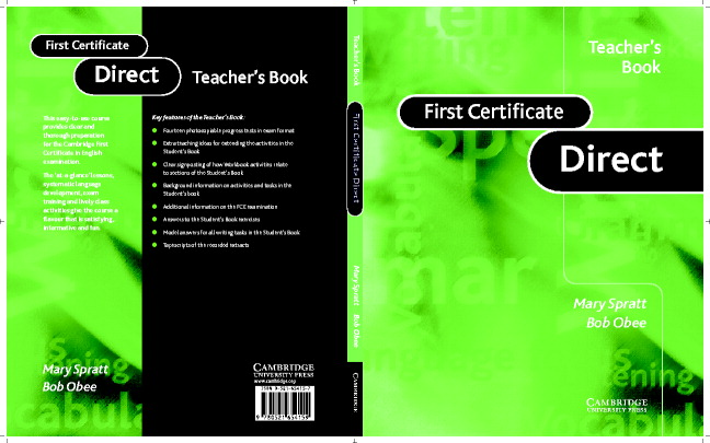 First Certificate Direct Teacher's book